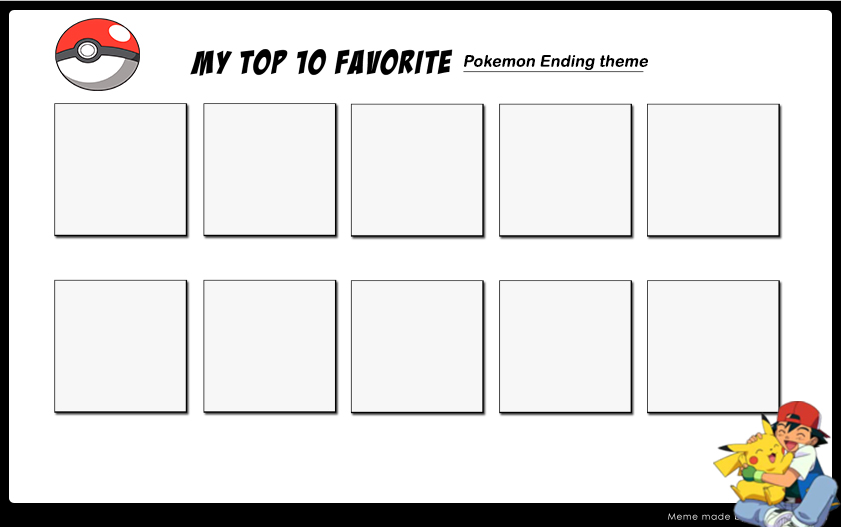 my top 10 favorite ending theme template by princesslilligant on