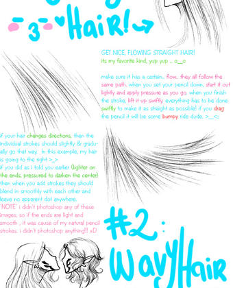 how to draw hair in pencil tutorial