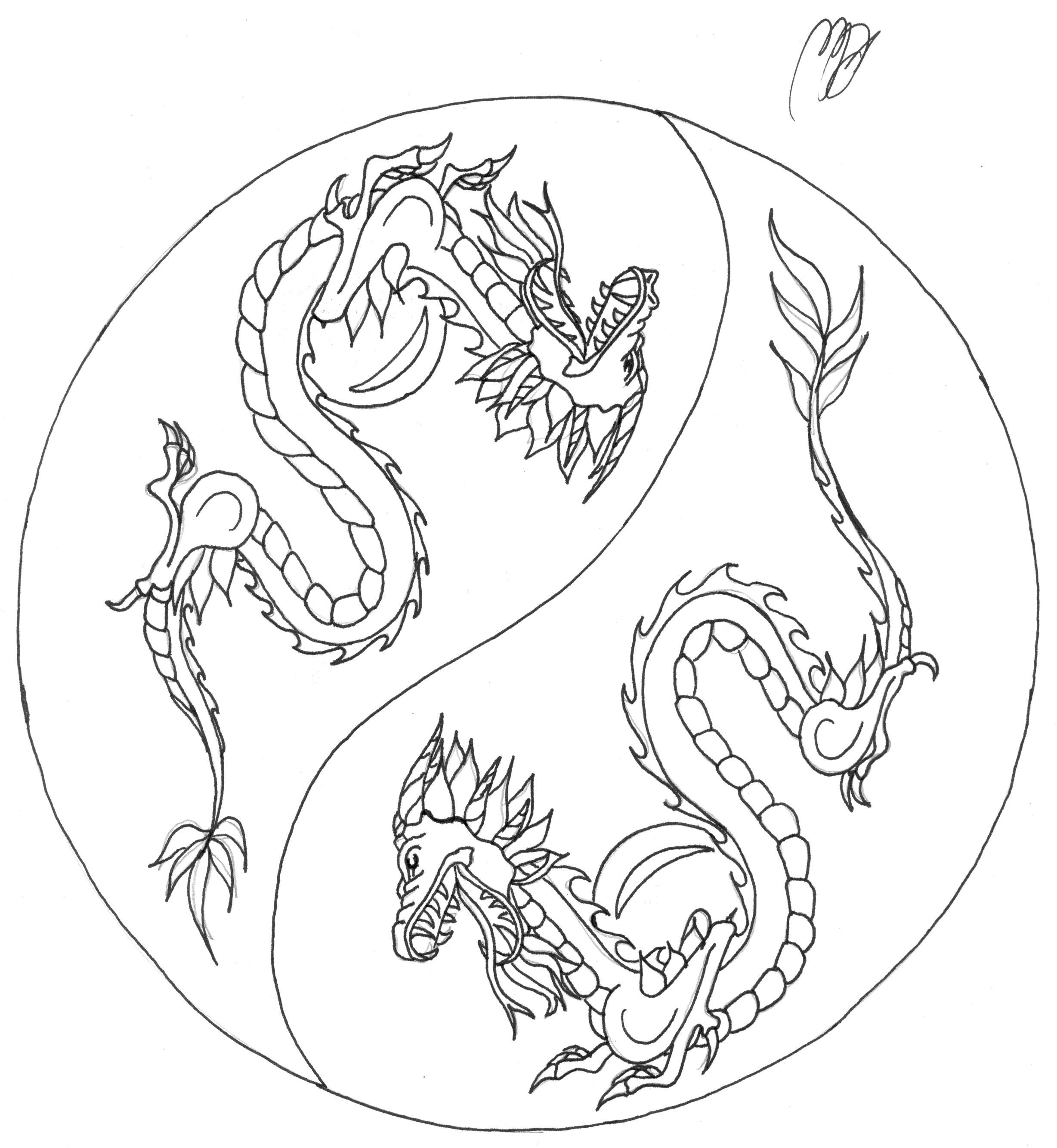 Simple Chinese Dragons Drawings My first chinese dragons by