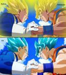 Super Saiyan Goku VS Super Saiyan Vegeta Redraw
