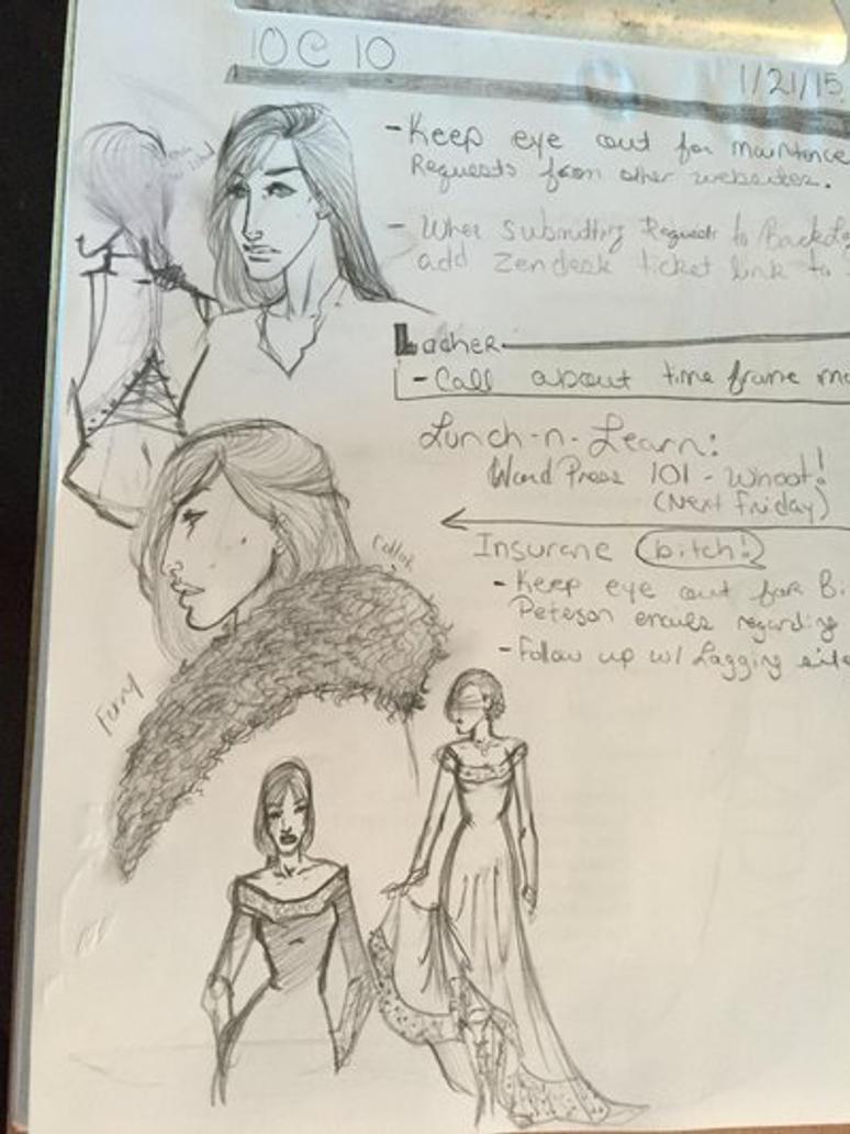 Staff meeting sketches by Harruka
