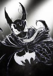 Venomized Batman by AJ-aka-Bushiryu