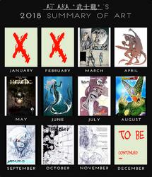 2018 AJ's Summary of Art by AJ-aka-Bushiryu