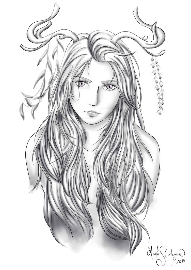 Forest soul (black and white ver.) by Hagane91