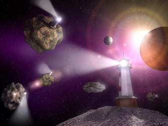 Lighthouses at the Edge of the Universe by Midkiffaies