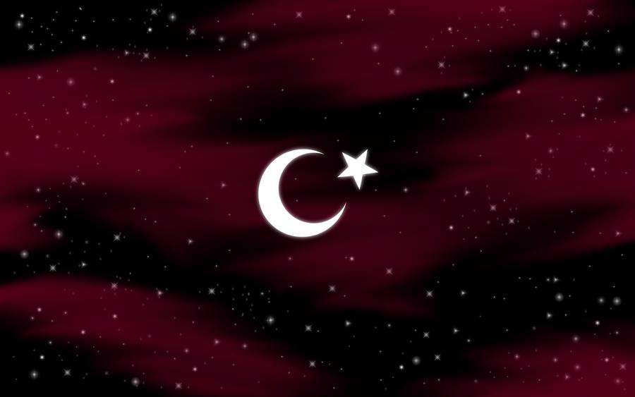 Turkish Flag On Sky By H2okerim