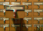 3D Card catalog _Anaglyph