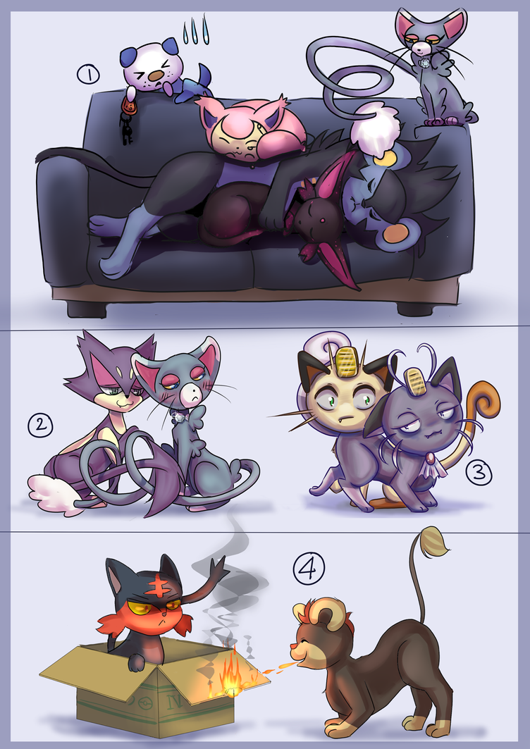 Living with Cats by Astra-cat