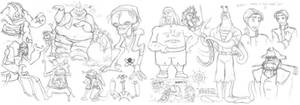 -sketch-Study of the Crews
