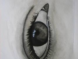 eye closeup by water--lily