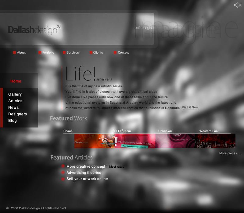 Dallashdesign-web interface 2