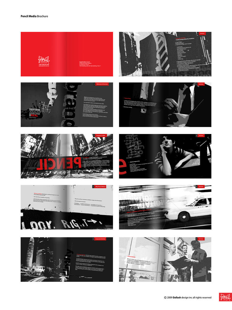 Pencil Brochure by Dalash