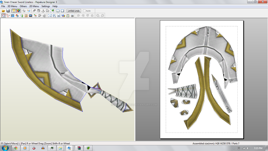 Siren Chaser Sword {Skyward Sword} by demonreapergirl