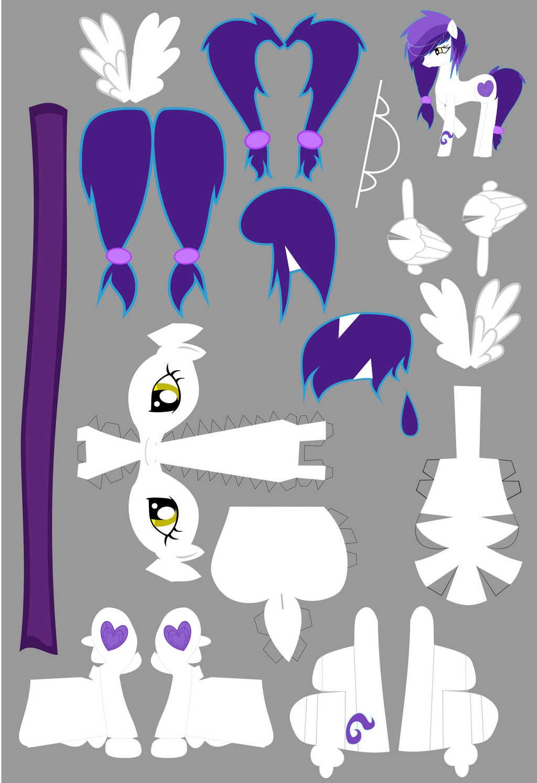 Jewelheart Papercraft by demonreapergirl