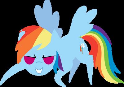 Rainbow Dash 4 by demonreapergirl