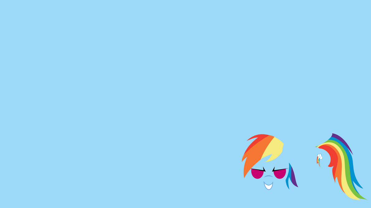 Rainbow Dash Minimal Wallpaper by demonreapergirl on deviantART