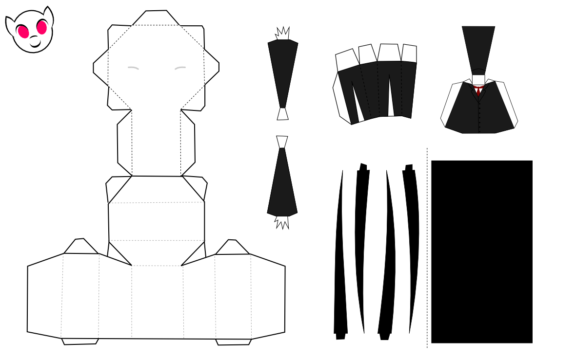 Slenderman Papercraft by demonreapergirl