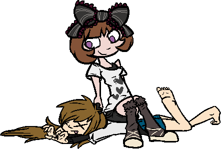 Runa and Sara by demonreapergirl