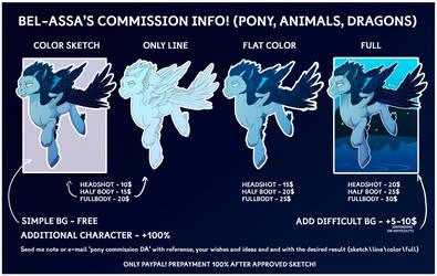 PONY COMMISSION INFO! by Bel-Assa