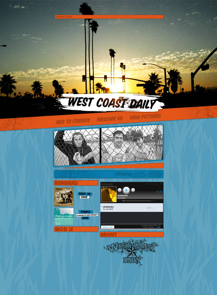 West Coast Daily Myspace by thisisreality