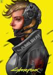 [COMMISSION] Cyberpunk 2077 Cyberware Fan Art
