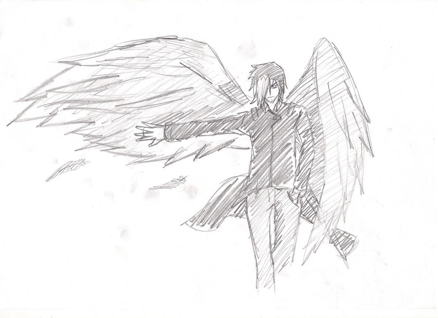 Tsubasa Rain with wings sketch by Kayaba-Wolf on DeviantArt
