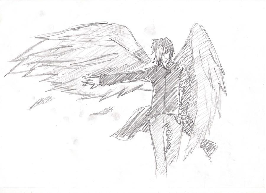 Tsubasa Rain with wings sketch by Kayaba-Wolf on DeviantArt