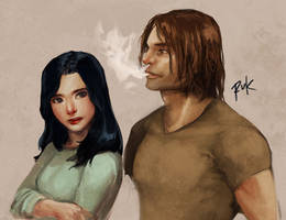 Snow and Bigby by rcmtrue