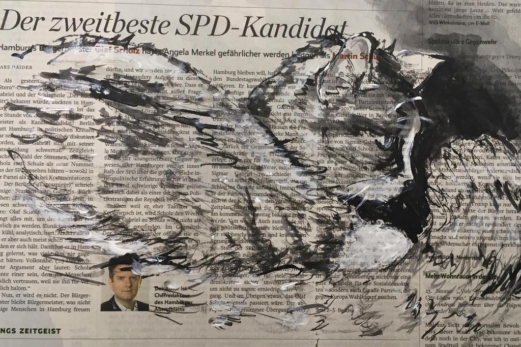 Amigo on newspaper by Jishinchan