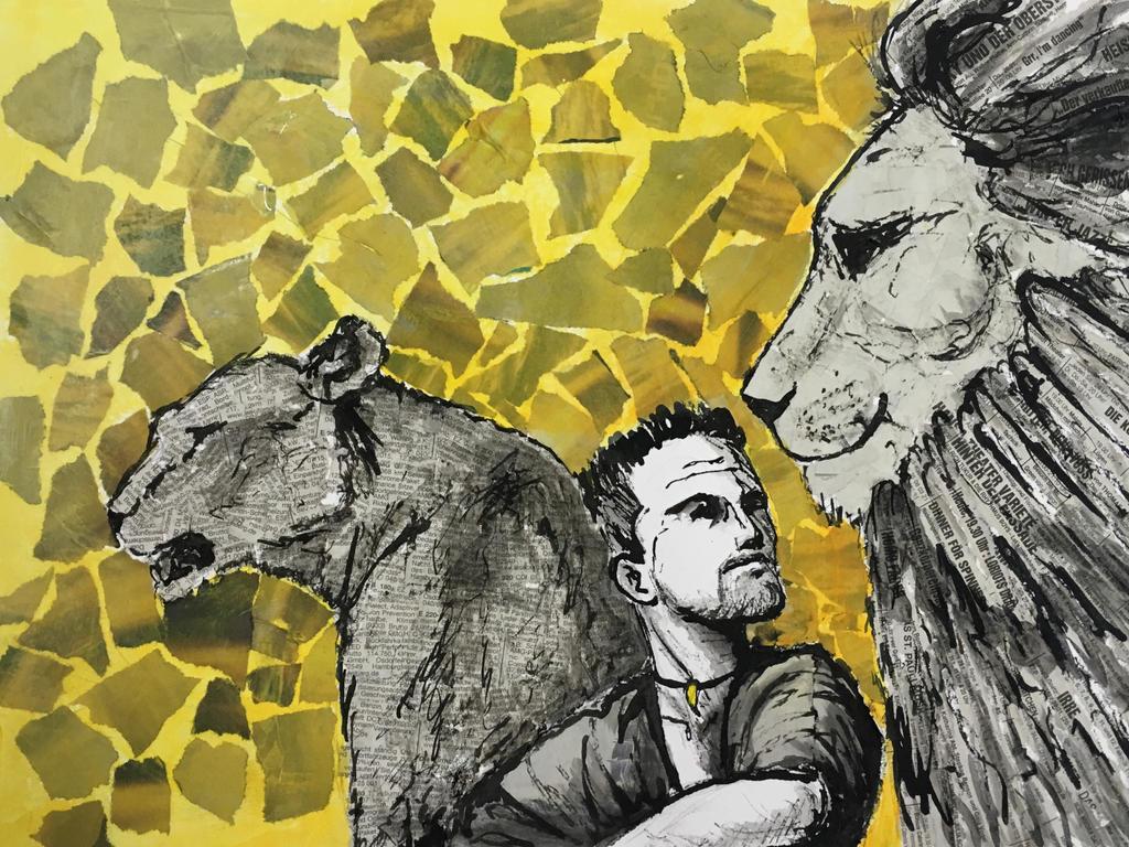Lion Wisperer by Jishinchan