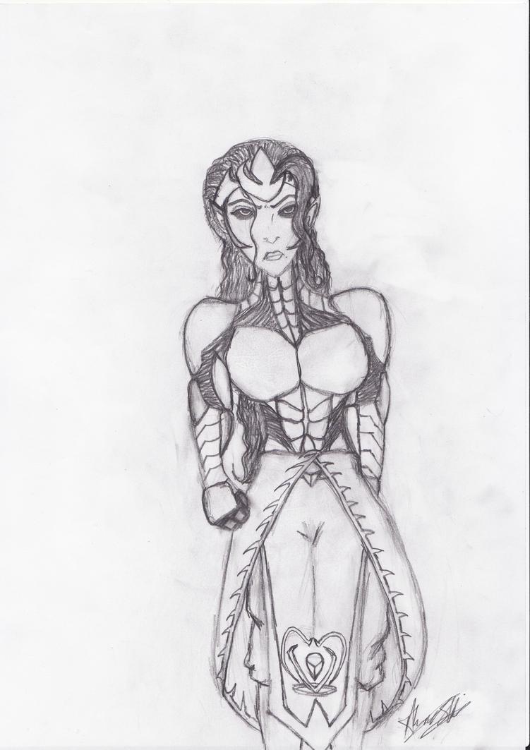 Queen Sorenia of Ridosia by Psycho-Werekitsune