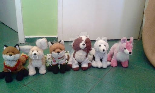 My Webkinz Foxes! by Vulpes-lagopus21