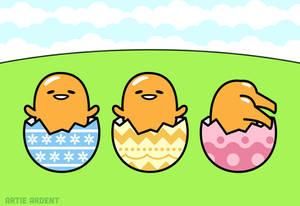 Gudetama Easter Trio