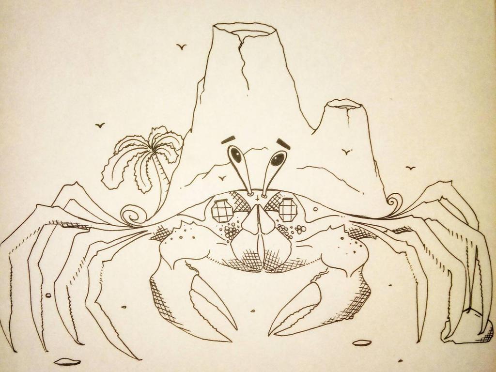 Vacation crab. by Noah-Kirkpatrick