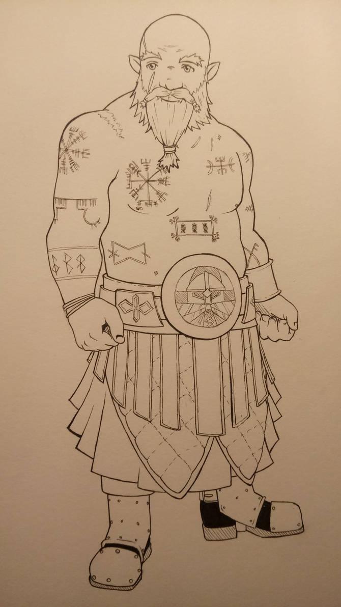 Commission: Dwarf Sorcerer
