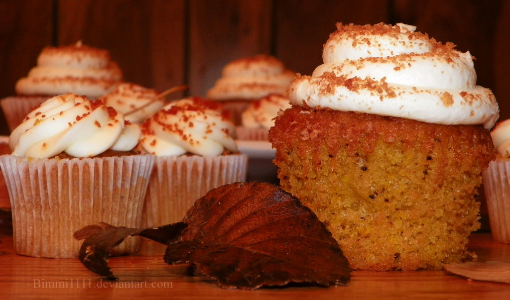 Pumpkin Cupcakes by Bimmi1111