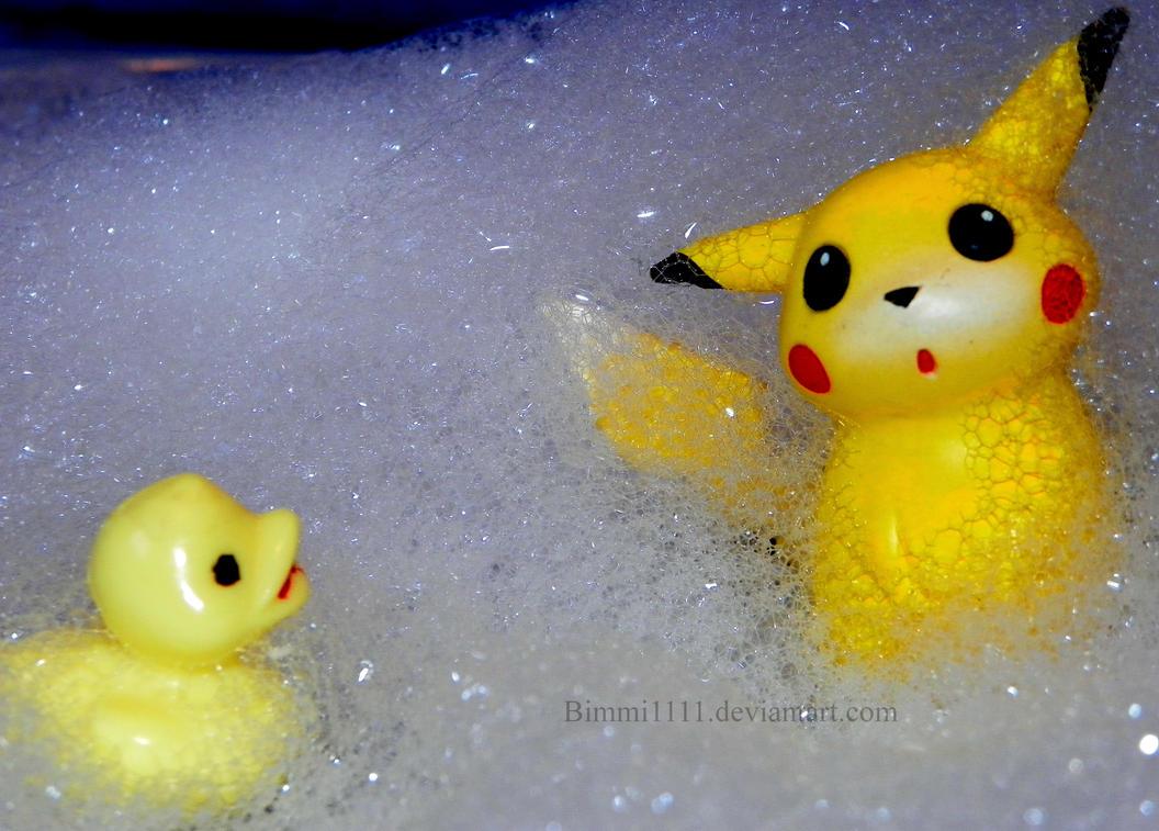 It's bath time, Pikachu! by Bimmi1111