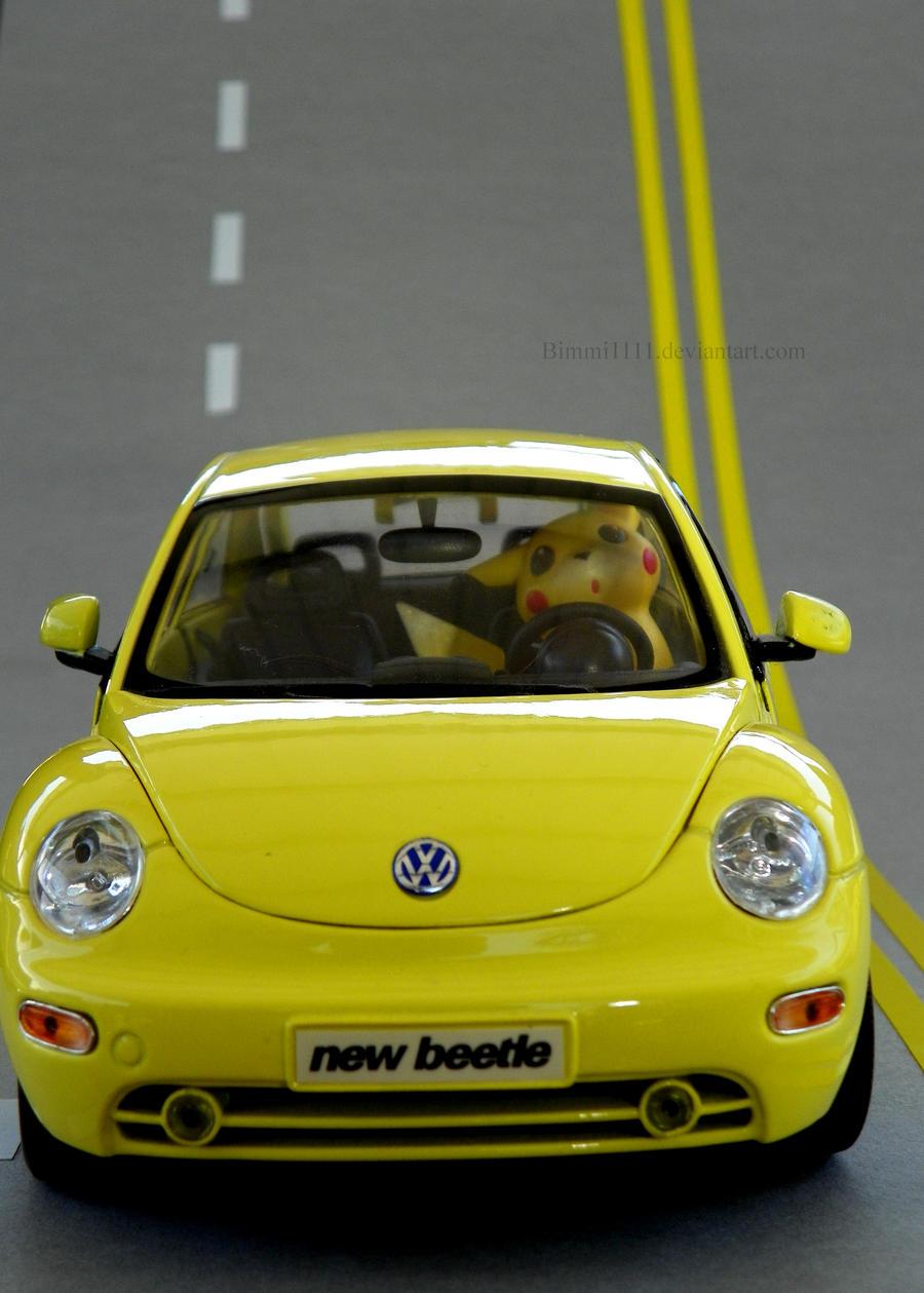 Pikachu's road trip by Bimmi1111