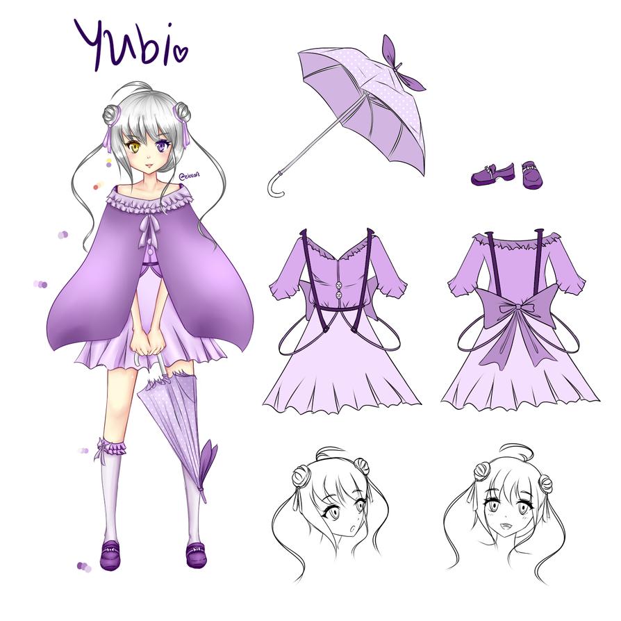 Yubi (incomplete ref sheet) by tivee