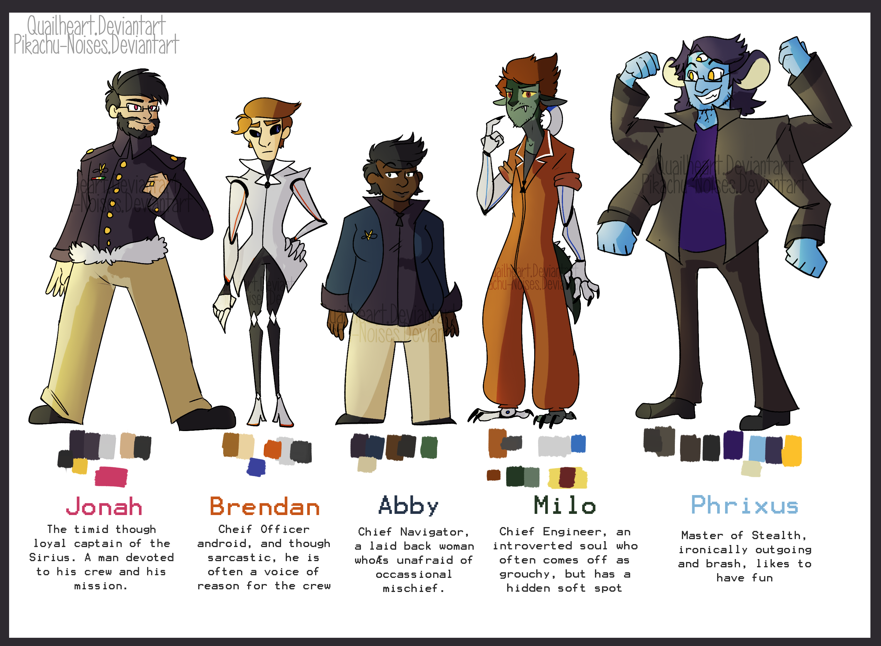 space crew character design by quailheart on deviantart