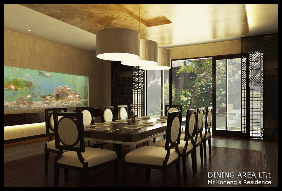 Oriental Dining Area by Yvesanty
