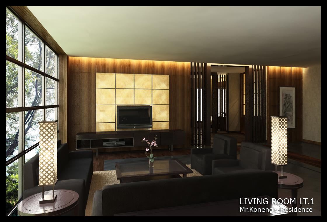 Modern japanese family room by yvesanty on deviantart for Japanese modern room