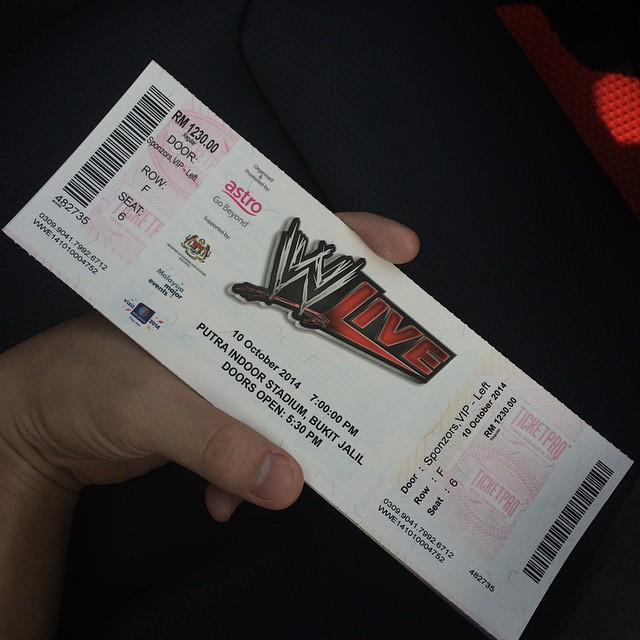 WWE Live Event Malaysia 2014 by chunfeng96