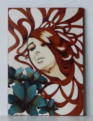 Blue eyes woman by Andulino