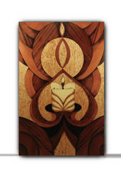 Fantasy of candle (marquetry) by Andulino