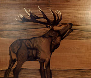 Deer marquetry by Andulino