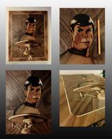 Leonard Nimoy (Mr. Spock) marquetry by Andulino