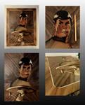 Leonard Nimoy (Mr. Spock) marquetry