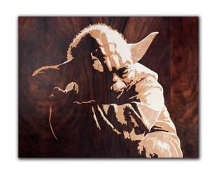 Yoda master of wood by Andulino