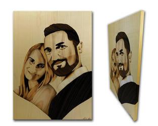 Wedding portrait of wood by Andulino